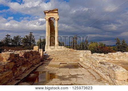 Kourion, Cyprus, The ruis of the Apollo temple in Kourion, Cyprus.