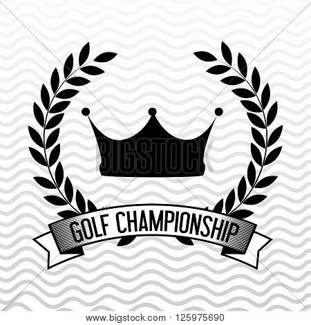 golf championship design, vector illustration eps10 graphic