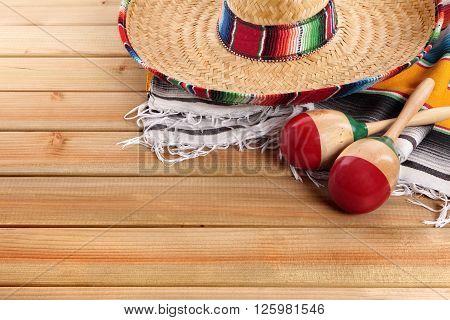 Mexico cinco de mayo mexican sombrero fiesta background
