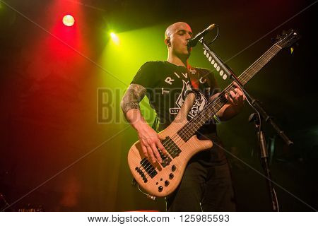 BRISBANE, AUSTRALIA - 15 APRIL 2016: Trivium live at Max Watts in Brisbane