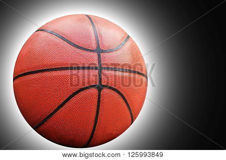 Closed up view of basketball outdoor, basketball concept, basketball idea, basketball background, basketball object, basketball close up, basketball equipment.