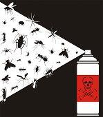 pest control - vector  pests exterminate spray poster