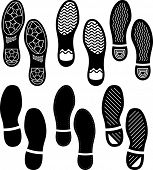Imprint Soles Shoes (Shoe Print) Set poster
