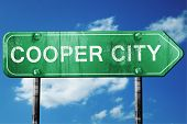cooper city road sign on a blue sky background poster