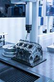 inspection dimension aluminum automotive parts by CMM poster