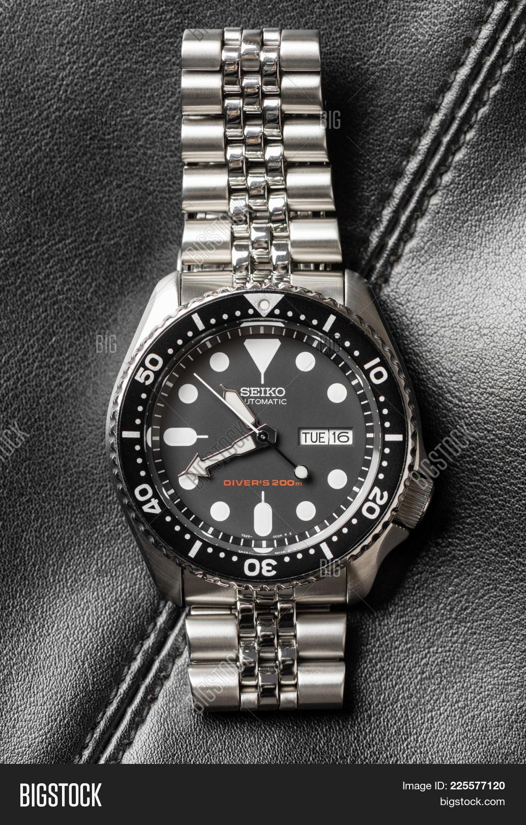 Seiko Automatic Image Photo Free Trial Bigstock Skx007k2 Divers 200m Black Dial