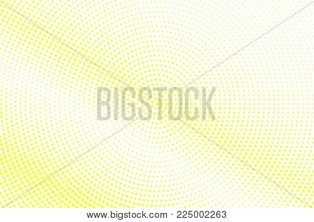 Yellow white dotted halftone. Faded diagonal halftone vector background. Golden dotted gradient. Retro futuristic texture. Yellow dot on transparent backdrop. Abstract pop art modern design template