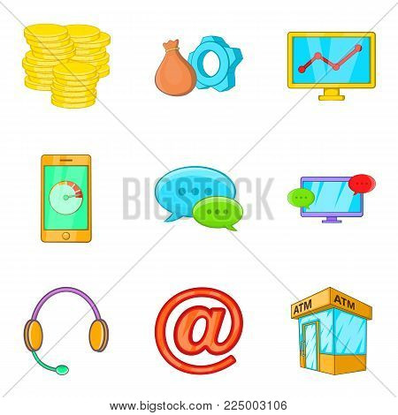 Buck icons set. Cartoon set of 9 buck vector icons for web isolated on white background