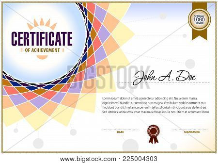 Certificate blank template. It can be use as design for honor, award or other official papers