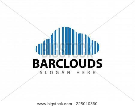 Vector Bar Code Cloud Online Cloud Storage Logo Design