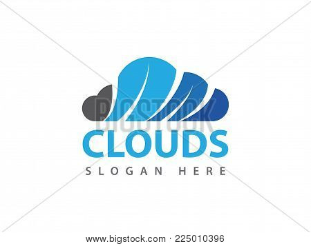 Vector Cloud Online Cloud Storage Logo Design