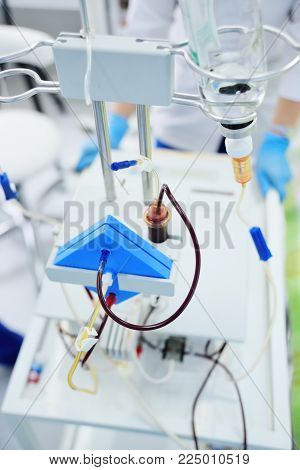 procedure plasmapheresis - the procedure of purification of blood and plasma from toxins