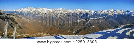 Mountain panorama. Krasnaya Polyana, near Sochi, Russia