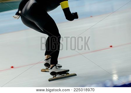 men athlete speed skater in ice-skating competition