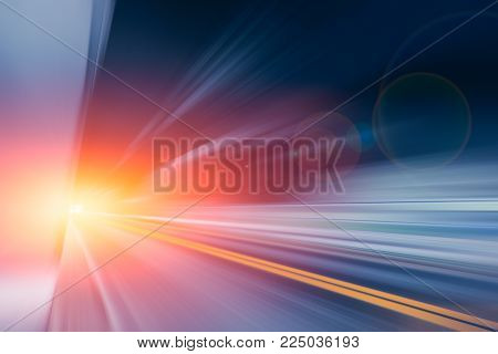 Motion blur fastest driving zoom high speed road effect abstract for background
