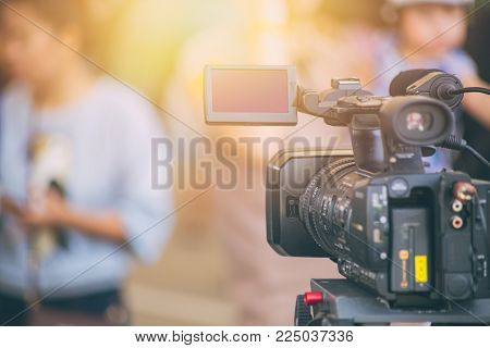 video camera  field working recorder commercial production house