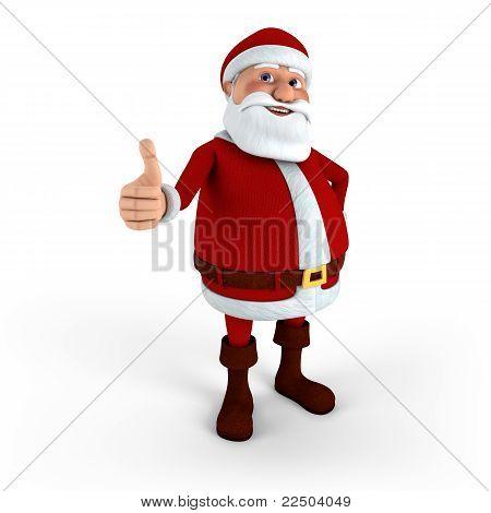 Santa Giving Thumbs-up