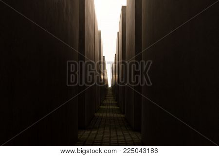 Exit from maze. Light at the end of tunnel. Last path. Road to paradise. Last moment before death. Thin way through long corridor. Exit from darkness. End of the troubles. Road to heaven. Freedom