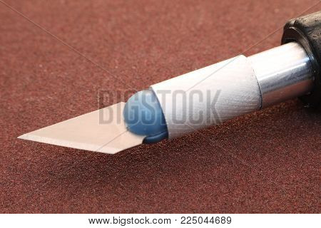 Chisel knife isolated. The wood chisel. Construction and repair.