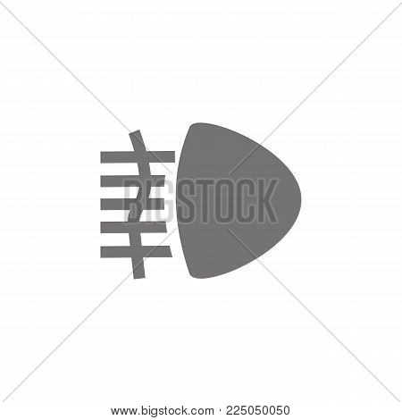 Fog lights icon. Car beam sign icon on white background