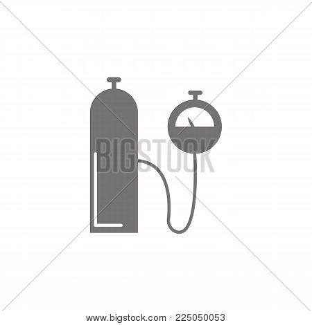 balloon pressure vector icon on white background