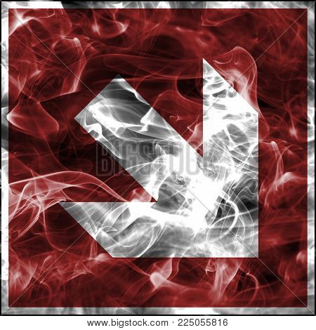Emergency smoke symbols for firefighting equipment. Standard fire safety sign for fire protection arrow