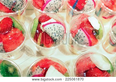 Europe, Catalonia, Spain. Fresh fruit market in Barcelona.