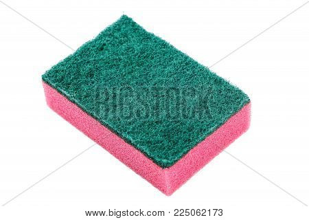 one washcloth on white background, close-up, isolated