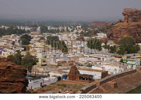 View Of The Indian City Dietary Supplements From Rock Top With Ancient Temples