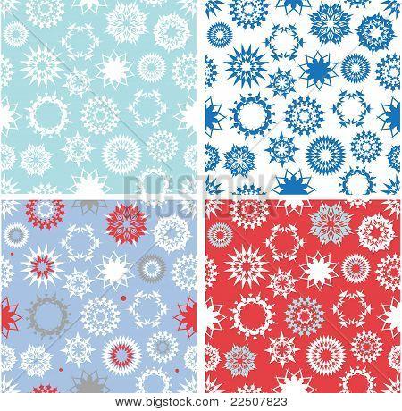 Set of xmas seamless patterns