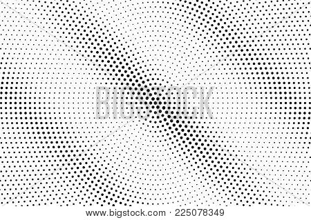 Black White Dotted Halftone Vector Background. Shadow Line Dotted Gradient. Minimalistic Halftone Po