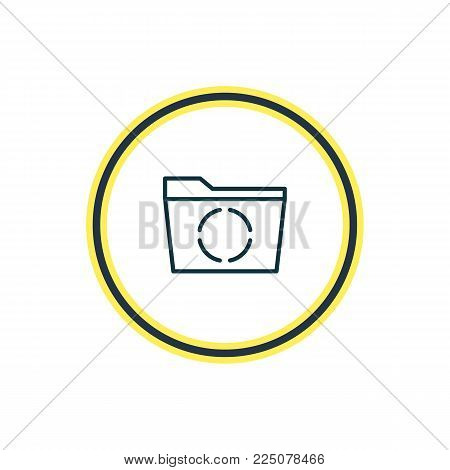 Vector illustration of reload icon line. Beautiful office element also can be used as loading  icon element.