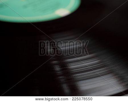 Vinyl Record Background Selective Focus