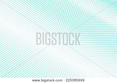 Blue White Dotted Halftone. Half Tone Vector Background. Faded Subtle Dotted Gradient. Abstract Futu