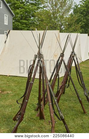 American Civil War Springfield 1861 rifled infantry soldier's weapon