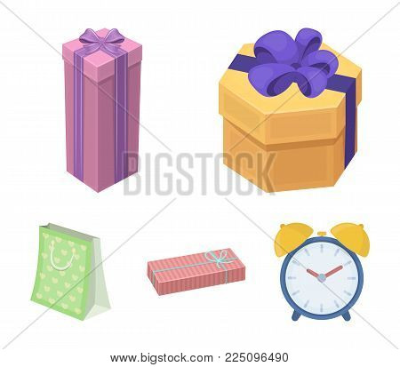 Gift box with bow, gift bag.Gifts and certificates set collection icons in cartoon style vector symbol stock illustration web.