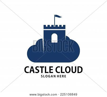 Vector Stronghold Castle Cloud Online Cloud Storage Logo Design
