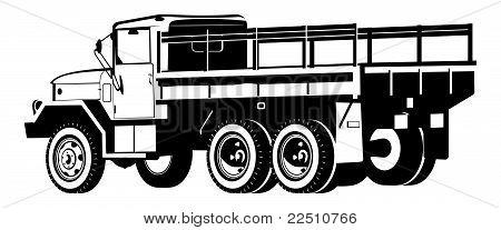 Dropt-kant vrachtwagen