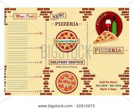 Pizzeria Restaurant Leaflet