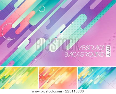 Modern rounded shapes vector abstract background. Suitable for your design element and background