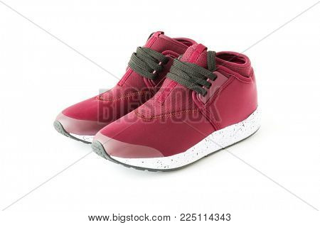 isolated unisex modern style jogging shoes
