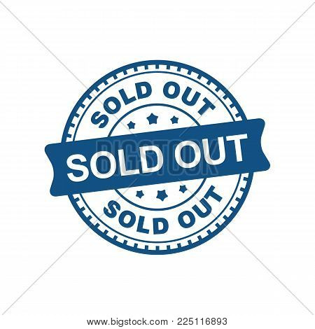 Vector Of Sold Out For Label, Marker, Tag, Stamp, Sticker On E-commerce, Paper