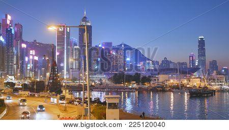 Causeway Bay, Hong Kong, 14 January 2018:- Hong Kong city at night