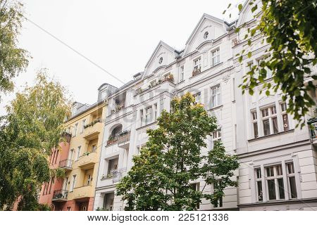 A Typical Apartment Building In Berlin. Exterior Of A Multi-apartment City House.