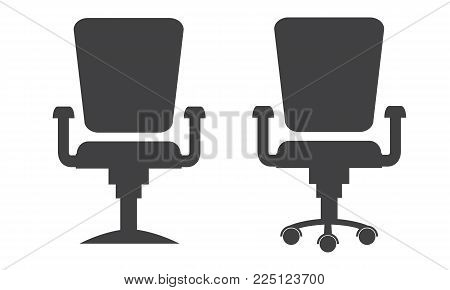 Modern office chair silhouette. Flat and solid design vector illustration.