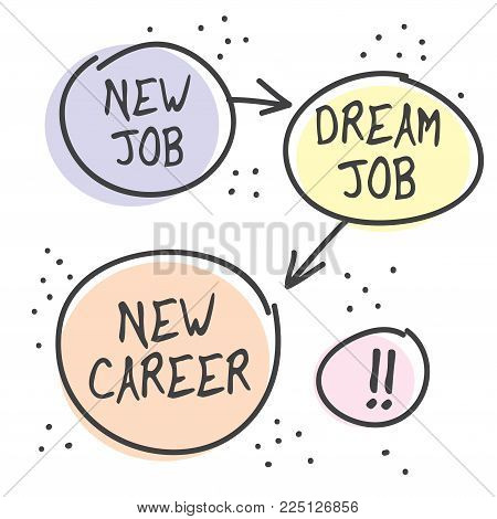 New Job, new Career Poster or Banner Abstract Design, vector illustration