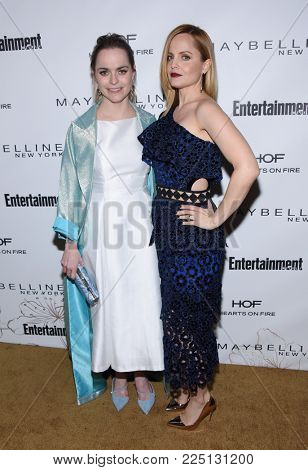 LOS ANGELES - JAN 20:  Taryn Manning and Mena Suvari arrives for the EW Magazine honors SAG Nominees on January 20, 2018 in West Hollywood, CA