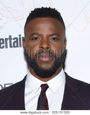 LOS ANGELES - JAN 20:  Winston Duke arrives for the EW Magazine honors SAG Nominees on January 20, 2018 in West Hollywood, CA