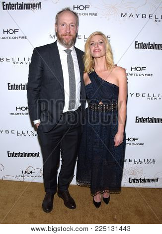LOS ANGELES - JAN 20:  Matt Walsh and Morgan Walsh arrives for the EW Magazine honors SAG Nominees on January 20, 2018 in West Hollywood, CA