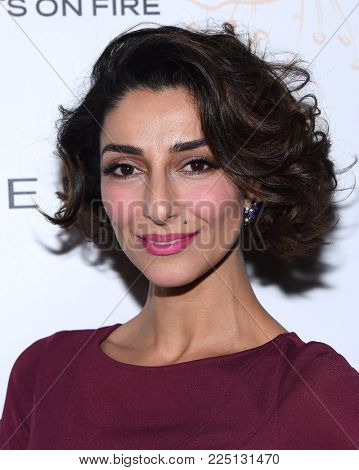 LOS ANGELES - JAN 20:  Necar Zadegan arrives for the EW Magazine honors SAG Nominees on January 20, 2018 in West Hollywood, CA